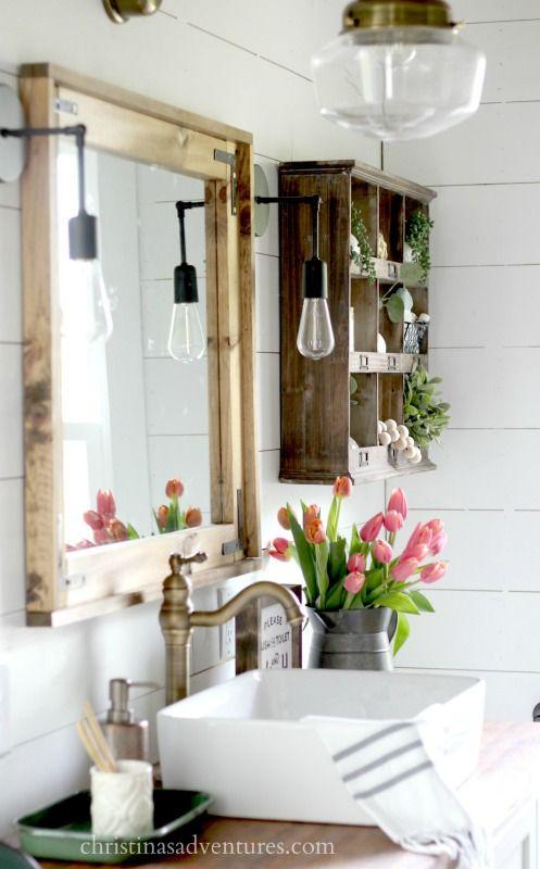 decoracion con flores en el baño 4