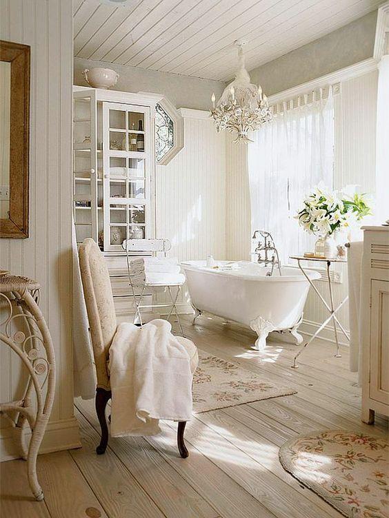 decoracion con flores en el baño 6