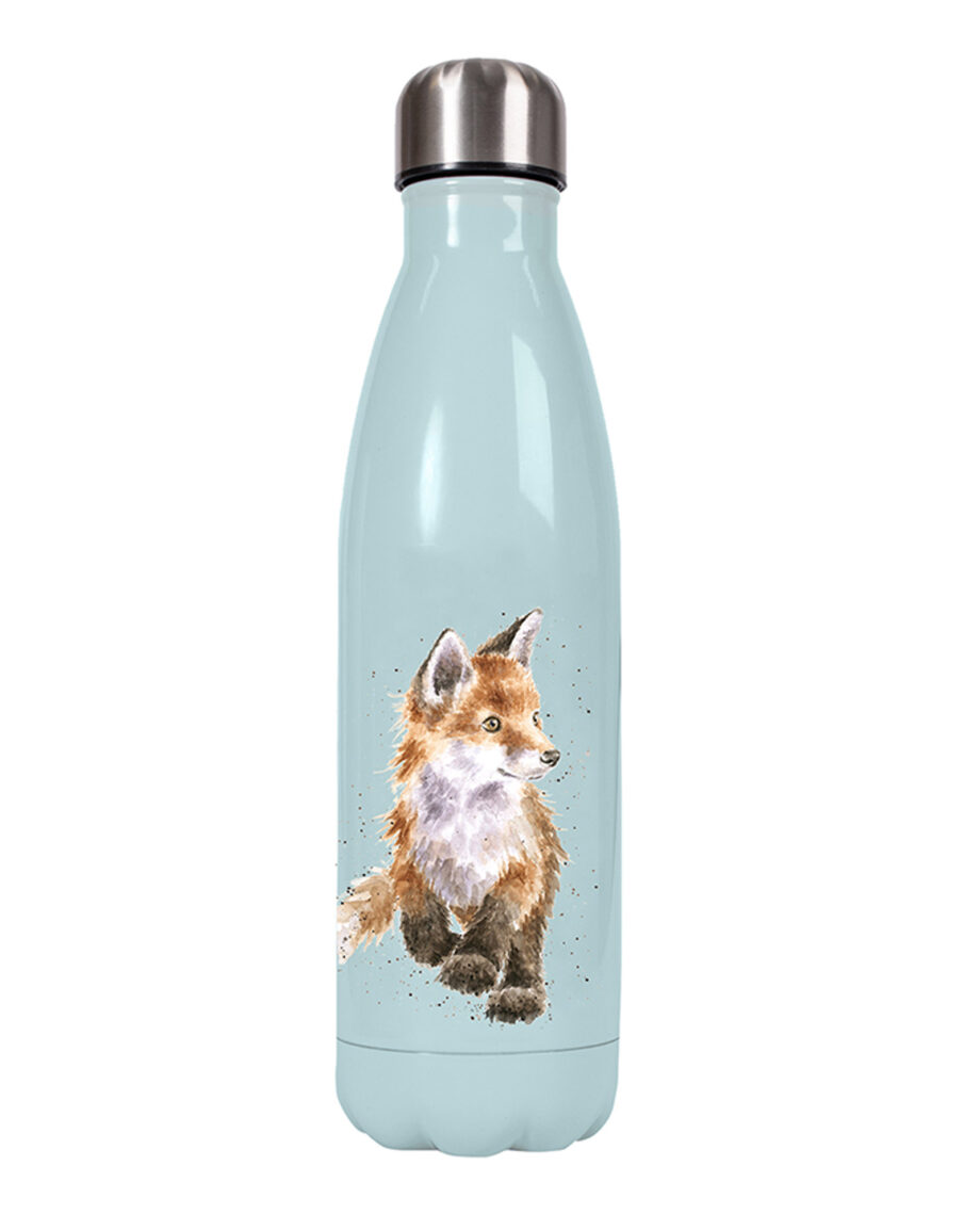Botella de agua metalica ilustración de Hannah Dale